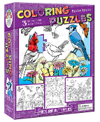 Coloring Puzzles-Birds and Butterflies