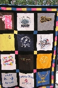 Black border t-shirt quilt