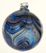 "Feather ball - 3""  Sapphire Sea"