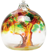 Oil Lamp - tree of enchantment - Autumn - 6""