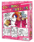 Coloring Puzzles-Fairy Tale Princesses