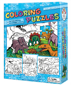 Coloring Puzzles-Dinosaurs