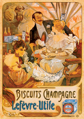 Biscuits Champagne (vintage poster)